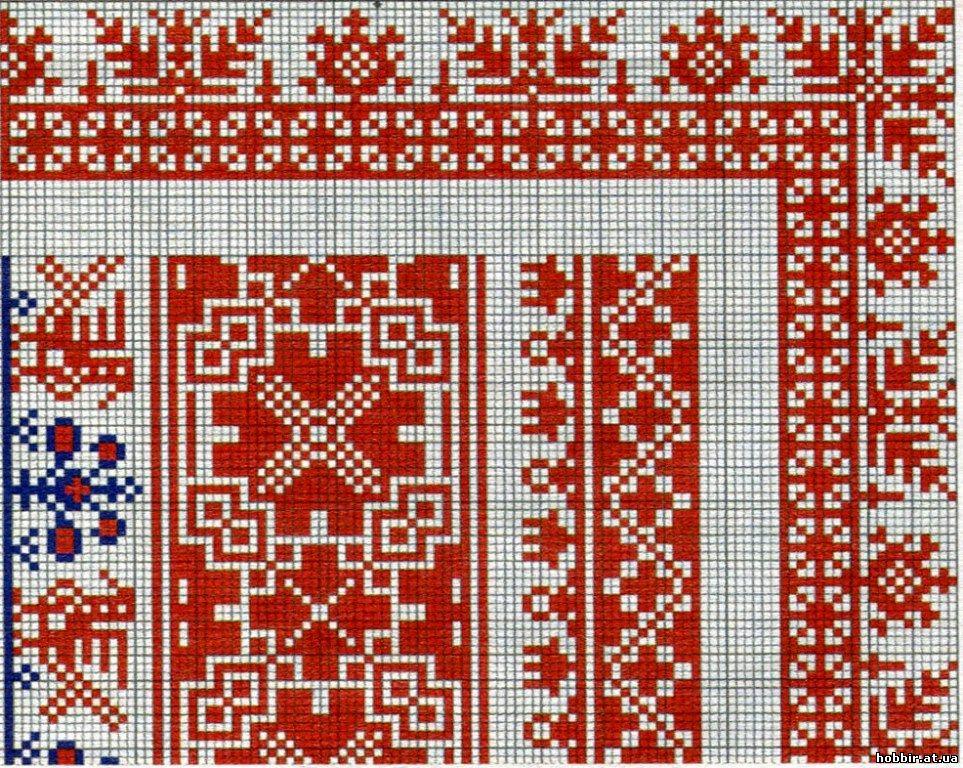 Вышивка крестом русские узоры и орнаменты