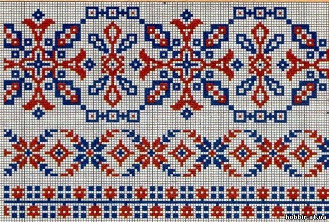 Схемы древней русской вышивки