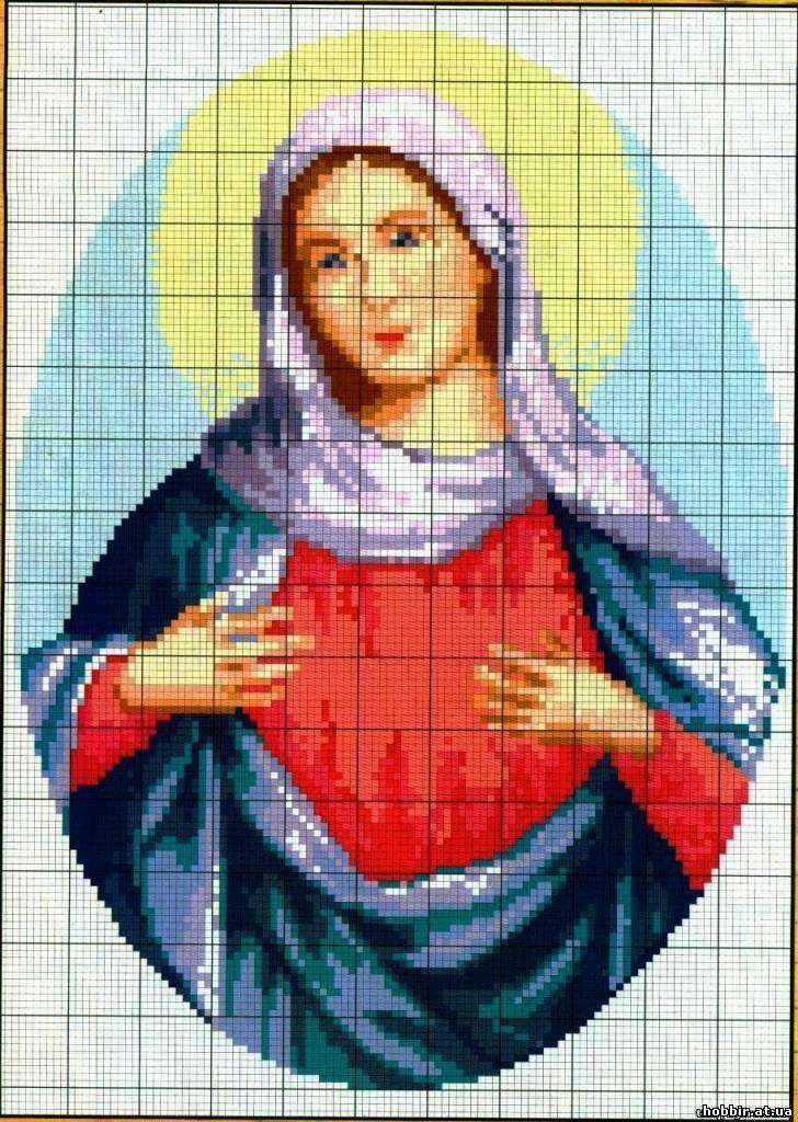 Схема вышивки крестом иконы жировицкой 42