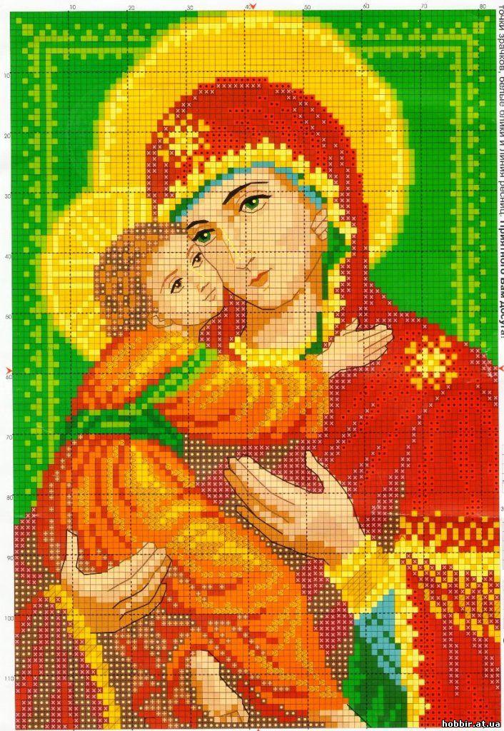 Схемы вышивки крестом с иконами 695