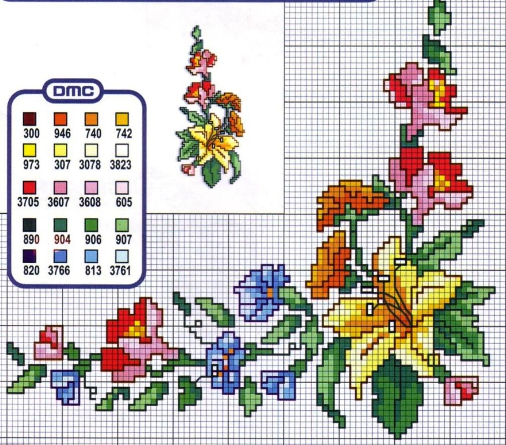 Схемы вышивок крестом 10 на 10 67