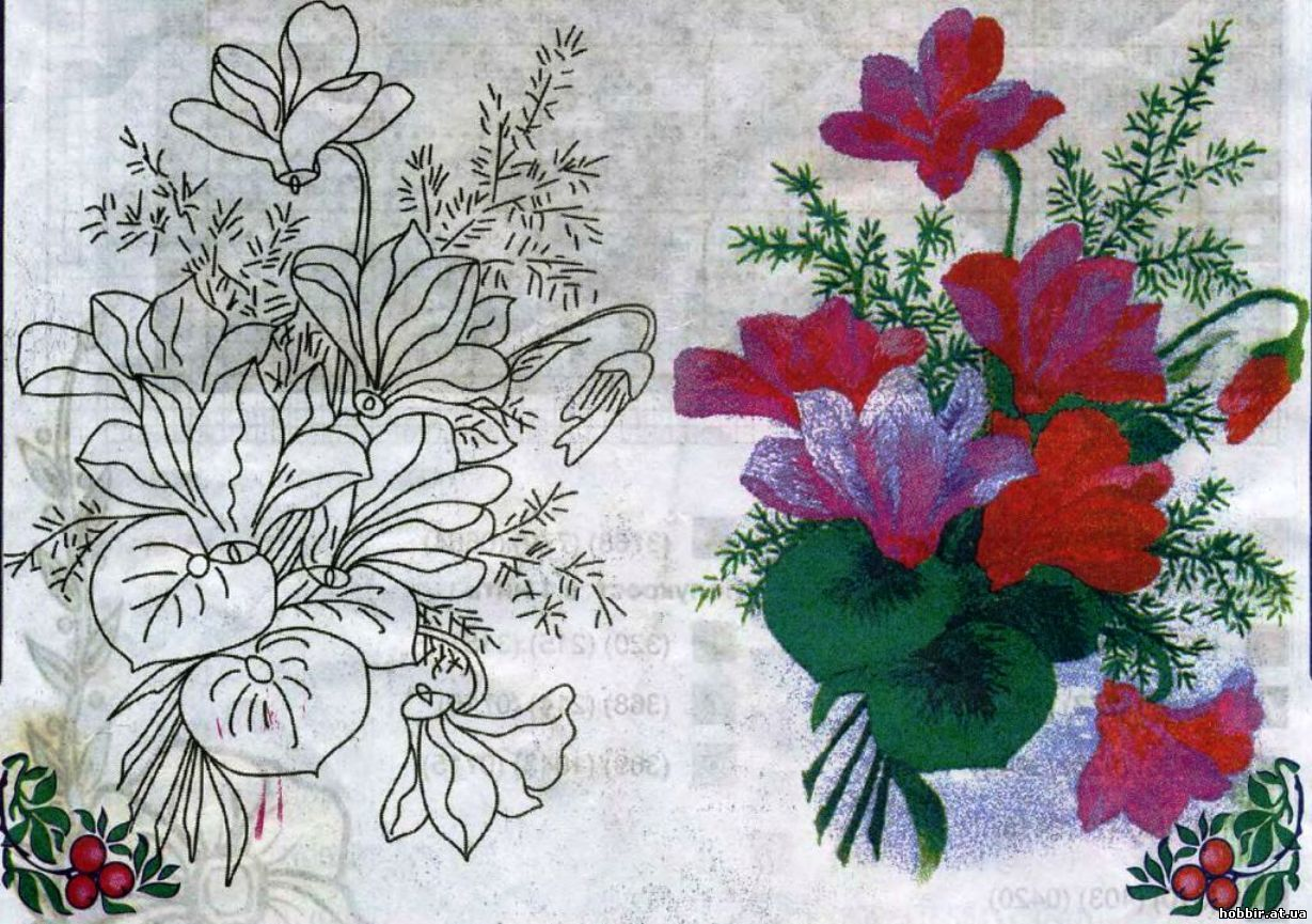Рисунок для вышивки фото