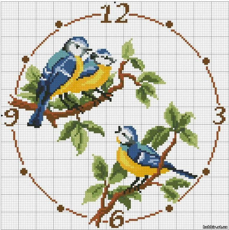 Вышивка схема циферблаты часов